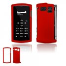 """Red Hard """"Rubber Feel"""" 2-Pc Faceplate Case for Sanyo Incognito 6760 (Sprint)"""