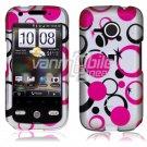 Pink Dots Design Hard 2-Pc Snap On Case for HTC Droid Eris (Verizon Wireless)