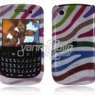 Colorful Stripes Design Hard 2-Pc Snap On Plastic Faceplate Case for BlackBerry Curve 8520/8530