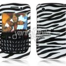Black/White Zebra Design Hard 2-Pc Snap On Plastic Faceplate Case for BlackBerry Curve 8520/8530