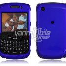 "Blue Hard ""Glossy/Shiny Smooth"" 2-Pc Faceplate Case for BlackBerry Curve 8520/8530"