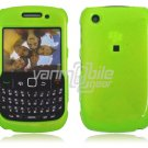 """Neon Green Hard """"Glossy/Shiny Smooth"""" 2-Pc Faceplate Case for BlackBerry Curve 8520/8530"""