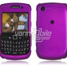 "Purple Hard ""Glossy/Shiny Smooth"" 2-Pc Faceplate Case for BlackBerry Curve 8520/8530"