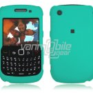 "Tuquoise Hard ""Rubber Feel"" 2-Pc Faceplate Case for BlackBerry Curve 8520/8530"