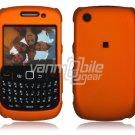 "Orange Hard ""Rubber Feel"" 2-Pc Faceplate Case for BlackBerry Curve 8520/8530"