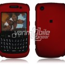 "Red Hard ""Rubber Feel"" 2-Pc Faceplate Case for BlackBerry Curve 8520/8530"