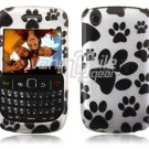 Paws Design Hard 2-Pc Snap On Plastic Faceplate Case for BlackBerry Curve 8520/8530