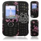 Black/Pink Skulls Design Hard 2-Pc Snap On Faceplate Case for LG Cosmos/LG Rumor 2 (Verizon/Sprint)
