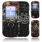 Keep Faith Skulls Design Hard 2-Pc Snap On Faceplate Case for LG Cosmos/LG Rumor 2 (Verizon/Sprint)