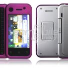 Purple 2-Pc Hard Snap On Case for Motorola BackFlip (AT&T)