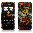 Keep Faith Skull Design Hard 2-Pc Snap On Faceplate Case for HTC Droid Incredible (Verizon Wireless)