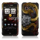 Snake and Skull Design Hard 2-Pc Snap On Faceplate Case for HTC Droid Incredible (Verizon Wireless)