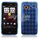 Blue Argyle Design 1-Pc Hard Rubber Case for HTC Droid Incredible (Verizon Wireless)