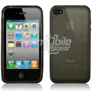 Black/Smoke Argyle Design Hard 1-Pc Rubber Case for Apple iPhone 4 (16GB/32GB)