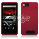 Hot Pink Soft Silicone Skin Cover Case for Motorola Droid X (Verizon Wireless)