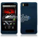 "Navy Blue ""Grip"" Soft Silicone Skin Cover Case for Motorola Droid X (Verizon Wireless)"