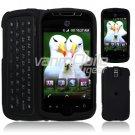 Black Hard 2-Pc Snap On Faceplate Case for myTouch 3G Slide (T-Mobile)