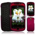 RED Hard 2-Pc Snap On Faceplate Case for myTouch 3G Slide (T-Mobile)