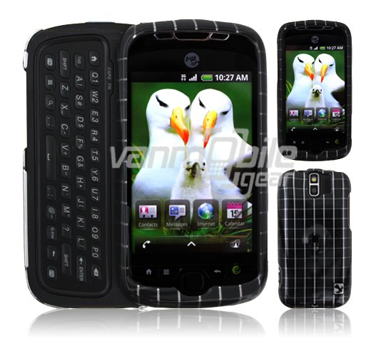Black Checkers Design Hard 2-Pc Snap On Faceplate Case for myTouch Slide (T-Mobile)
