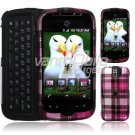 Pink Plaid Design Hard 2-Pc Snap On Faceplate Case for myTouch Slide (T-Mobile)