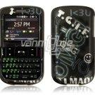 Black Text Design Hard Case for HTC Ozone XV6175 (Verizon Wireless)