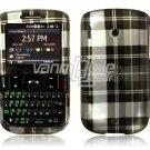 Black Plaid Design Hard Case for HTC Ozone XV6175 (Verizon Wireless)