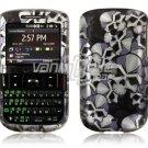 Black/Silver Skulls Design Hard Case for HTC Ozone XV6175 (Verizon Wireless)