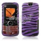 BLACK PURPLE DESIGN CASE COVER 4 MOTOROLA CLUTCH PHONE