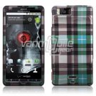 GREEN-BLUE DESIGN HARD CASE for MOTOROLA DROID X PHONE