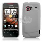 WHITE 1-PC GLOSSY SKIN CASE COVER for HTC INCREDIBLE