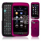 HOT PINK HARD 2-PC CASE COVER for LG VU PLUS PHONE GR 700