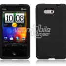 BLACK SILICON CASE COVER for HTC ARIA PHONE SKIN