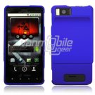 BLUE HARD 2-PC CASE COVER for MOTOROLA DROID X PHONE NR