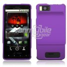 PURPLE HARD 2-PC CASE COVER for MOTOROLA DROID X PHONE NR