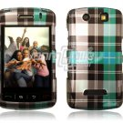 TURQUOISE PLAID Hard Case Cover for BlackBerry Storm