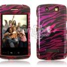 BLACK PLUM ZEBRA Hard Case Cover for BlackBerry Storm