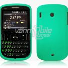 Soft Rubber Silicone Skin Cover Case for HTC Ozone XV6175 - Turquoise