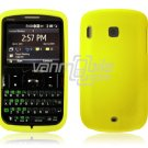 Soft Rubber Silicone Skin Cover Case for HTC Ozone XV6175 - YELLOW