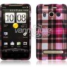 PINK PL DESIGN HARD 2-PC CASE COVER for HTC EVO 4G SKIN
