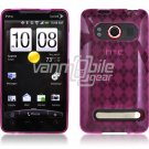 PINK ARGYLE DESIGN 1-PC CASE for HTC EVO 4G PHONE