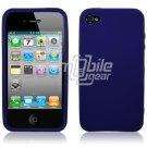 BLUE HARD CASE for APPLE IPHONE 4 OS