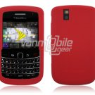 RED SOFT SILICONE SKIN CASE for BLACKBERRY BOLD 9650 BB