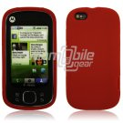 RED SOFT SILICONE SKIN CASE for MOTOROLA CLIQ XT PHONE
