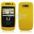 YELLOW GRIP SOFT SILICONE RUBBER GEL SKIN 4 NOKIA E71 71X