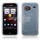 CLEAR/WHITE SILICONE SKIN CASE for HTC DROID INCREDIBLE