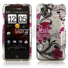 Rose Pink Flowers Design Hard 2-Pc Faceplate Case for HTC Droid Incredible (Verizon Wireless)
