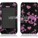 PINK SKULLS 1-PC ACCESSORY for iPHONE 3GS