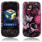 Hard Plastic Design Hard Case for Samsung Behold 2 T939 - BLACK/PINK BUTTERFLIES