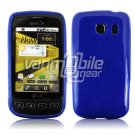 SOLID BLUE GLOSSY TPU CASE for LG OPTIMUS S