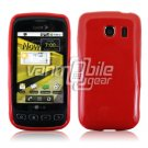 SOLID RED GLOSSY TPU CASE for LG OPTIMUS S